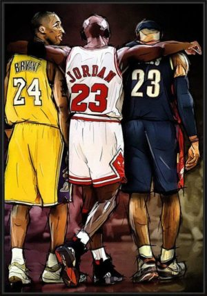 Affiche Basketball – Kobe Bryant / Michael Jordan / LeBron James